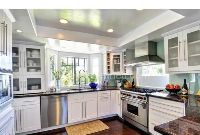 Yeni u mutfak dekorasyonu Modelleri