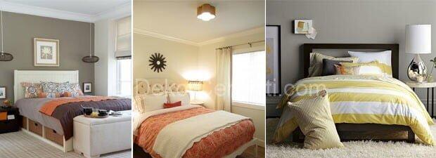 Yeni yatak odası krem rengi Fotoğrafları