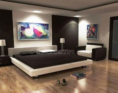 Yeni yatak odası uygun renkler Görselleri