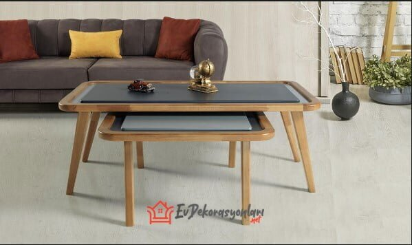 yildiz mobilya modern ikili orta sehpa modeli