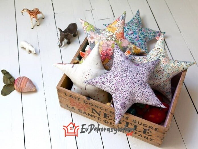 Bebek Odaları İçin Dekoratif Yıldız Yastık Yapılışı