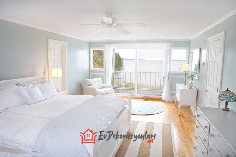 zarif beyaz yatak odasi dekorasyon modeli 2020