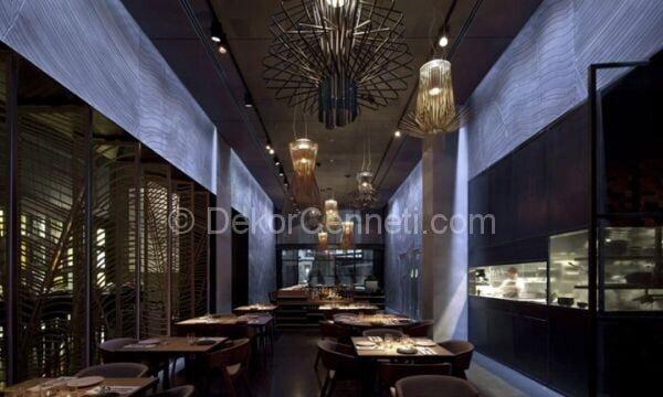 zarif ve modern restoran dekorasyonu
