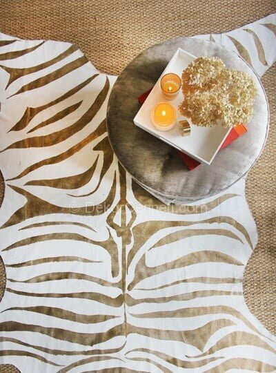 zebra desenli halı