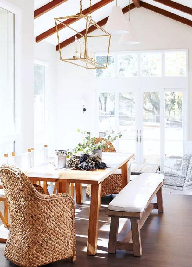 Beyaz Yemek Odası Dekorasyonu