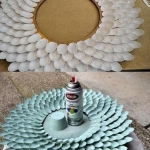 Plastik kaşıktan ayna çerçevesi yapımı 2