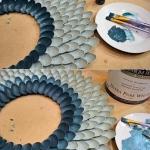Plastik kaşıktan ayna çerçevesi yapımı 3