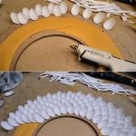 Plastik kaşıktan ayna çerçevesi yapımı 1