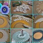 Plastik kaşıktan ayna çerçevesi yapımı 5